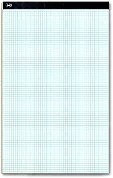4 Squares per inch Blueprint Paper Computatin Pad Drafting Paper Quadrille Writing Paper Squared Paper Mr Pad Architectural Paper Pen- Graph Paper 8.5x11 60 Sheet Papers Grid Paper 4x4