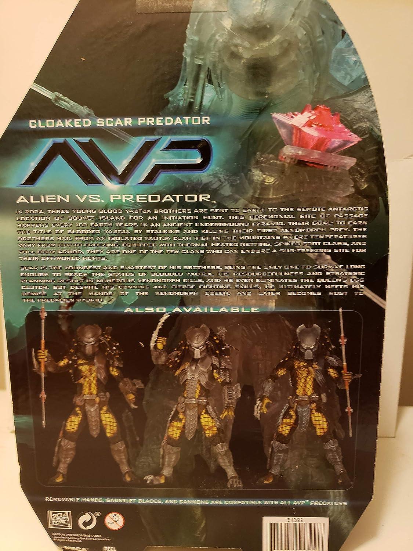 NECA Alien vs Predator AVP Cloaked Scar Predator SDCC Exclusive 2016