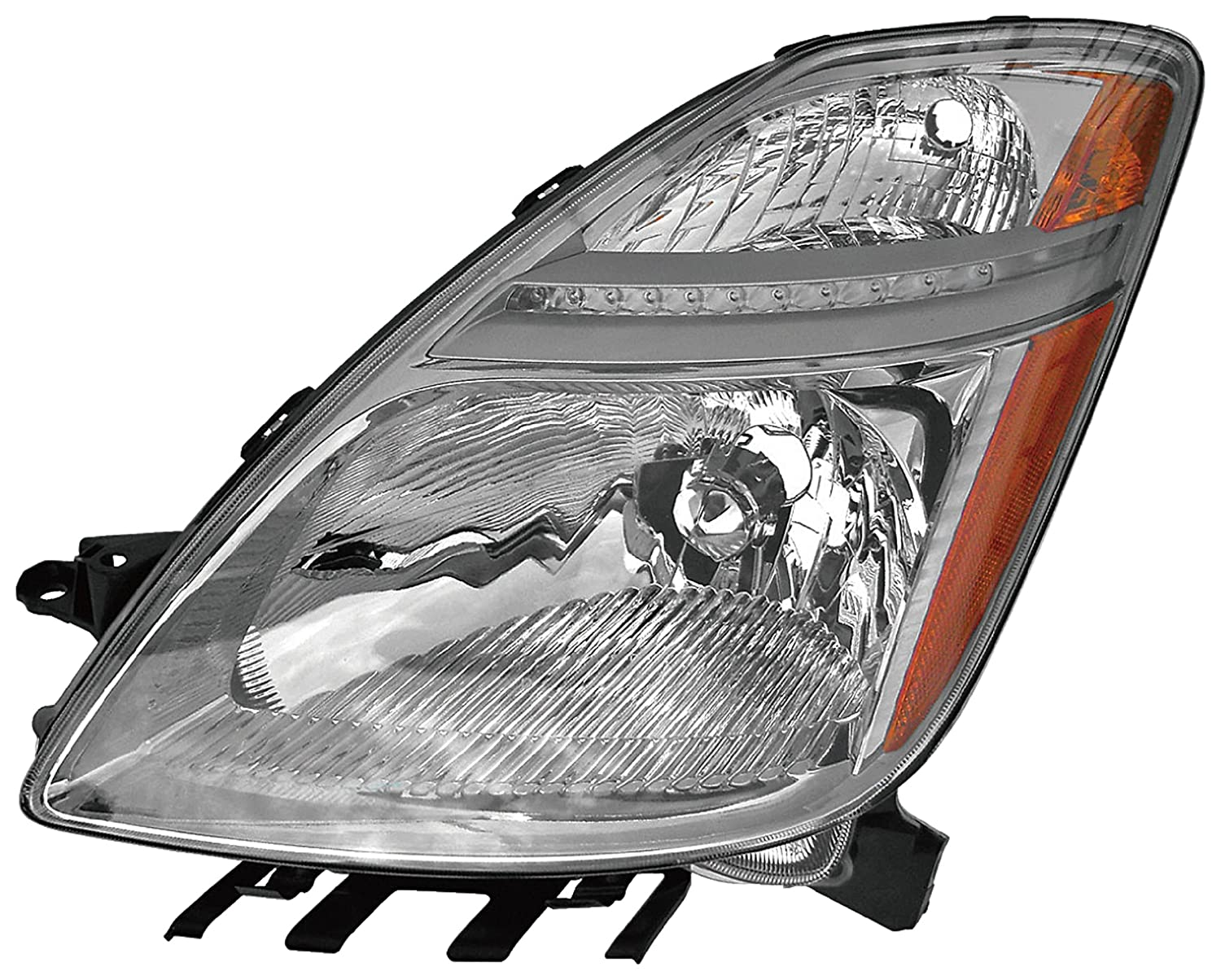 Driver side WITH install kit 6 inch 2013 Mack PINNACLE DAY FAIRING Side Roof mount spotlight 100W Halogen -Black