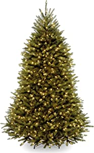 National Tree Company Pre-lit Artificial Christmas Tree | Includes Pre-strung White Lights and Stand | Dunhill Fir - 6 ft