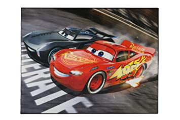 Aminata Kids Teppich Kinderzimmer Jungen Auto Disney Cars 95x125 Cm * Made  In Europe * Rutschhemmend