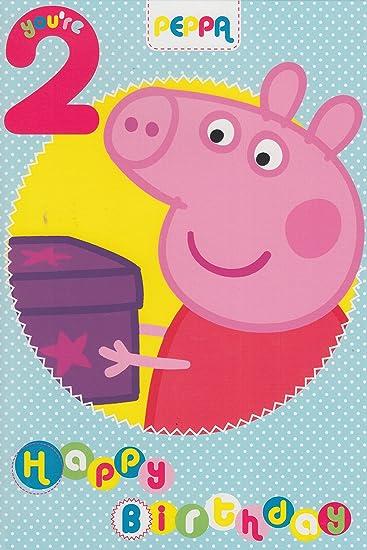 Amazon.com: Peppa Pig Edad 2 Tarjeta de cumpleaños: Toys & Games