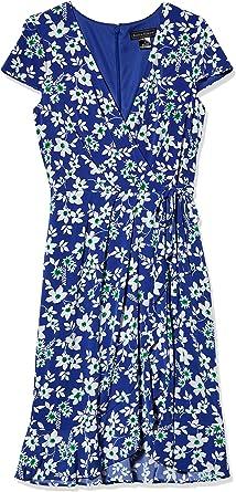 Ruffled Detail Surplus Wrap Dress