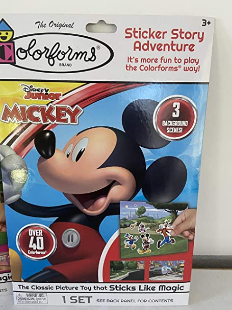 The Classic Picture Toy That Sticks Like Magic Mickey Mouse Colorforms Sticker Story Adventure 3 Background Scenes and Over 40 Colorforms