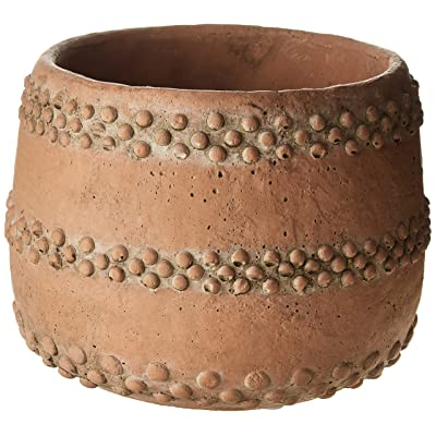 Creative Co-op DA8379-1 Brown & Orange Cement Planter: Home & Kitchen