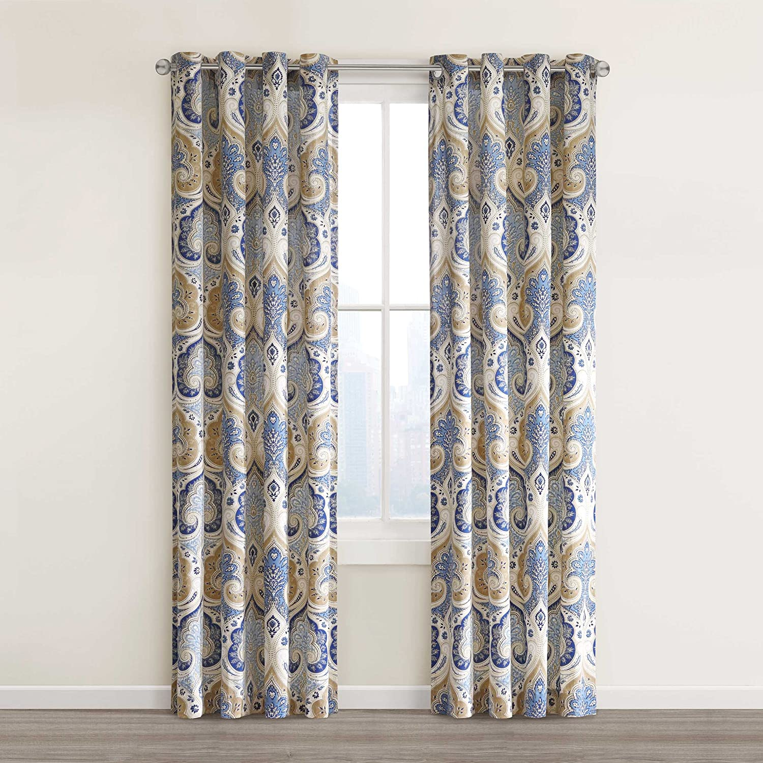 queen by x blue set j colette bedding york valance powder comforter new waterfall curtains p