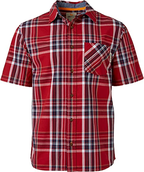Campo y corriente camisa de cuadros tejido de manga corta para hombre, XXXL, Rojo Clásico: Amazon.es: Deportes y aire libre