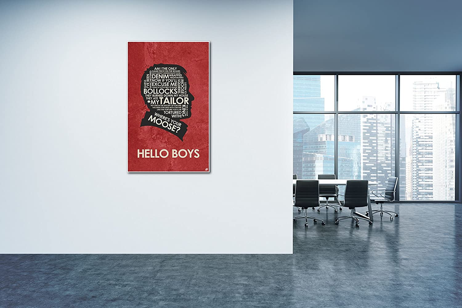 12 x 18 Crowley: Hello Boys Word Art Print Poster Supernatural by Artist Stephen Poon.