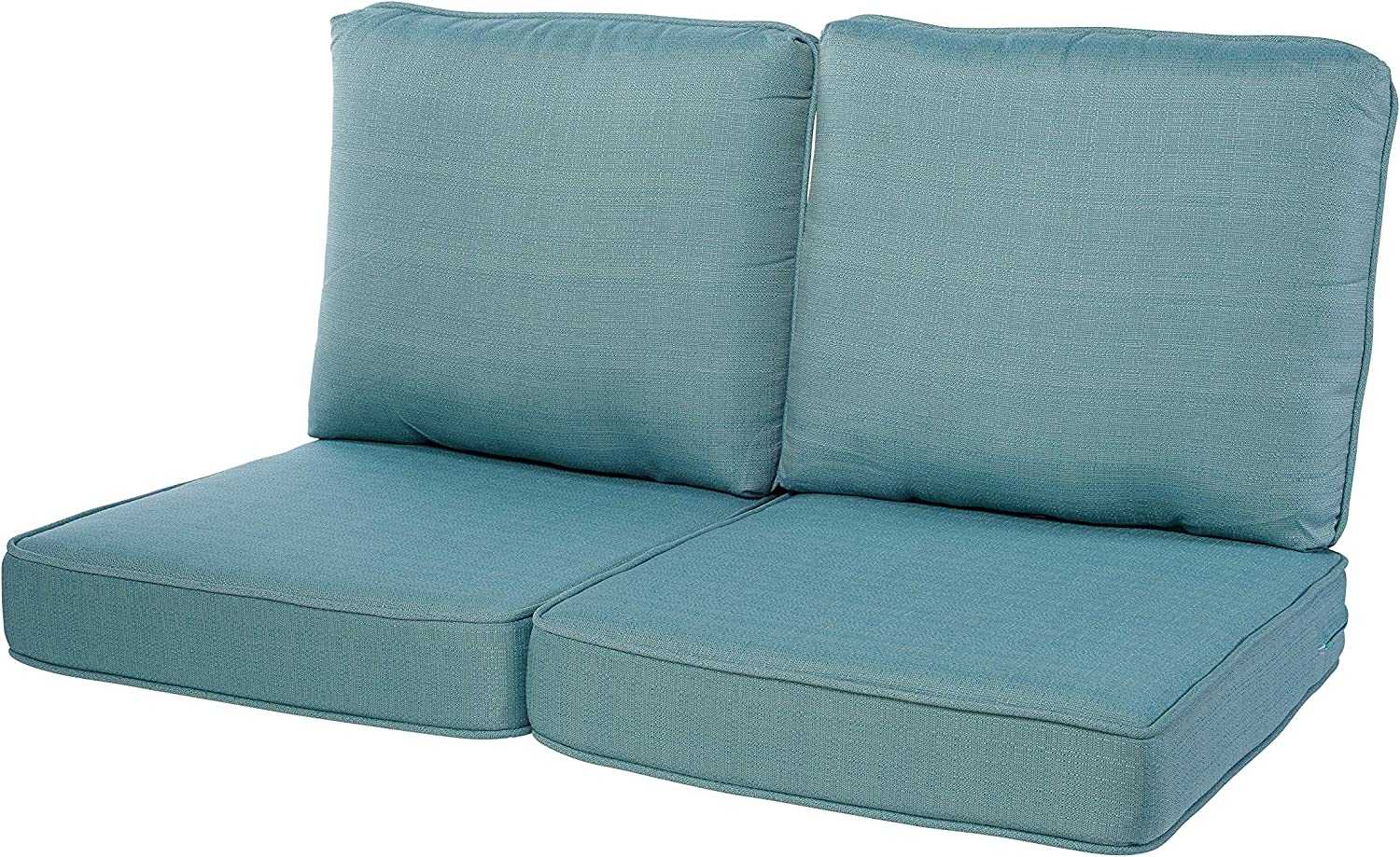 Quality Outdoor Living 29-AB02LV Loveseat Cushion, 44 x 25 4PC, Arctic Blue