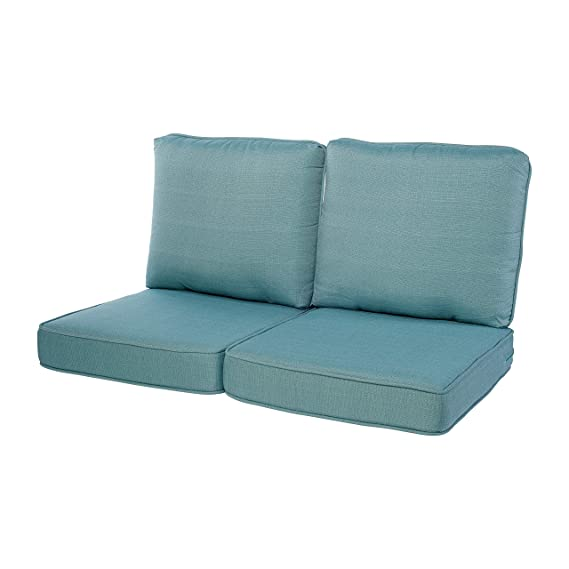 Quality Outdoor Living 29-AB02LV Loveseat Cushion Arctic Blue 44 x 25 4PC