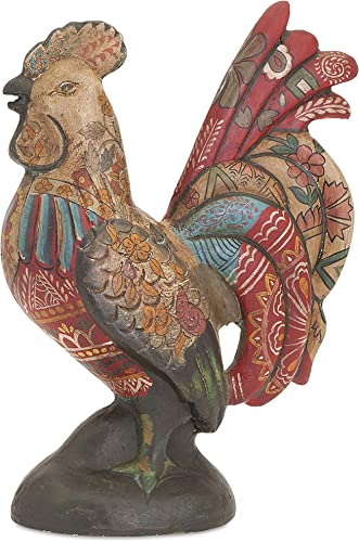 IMAX 73380 Daphne Hand Painted Rooster, Multicolor