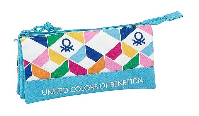 Benetton SAFTA Estuche Escolar Geometric Oficial 220x30x100mm: Amazon.es: Ropa y accesorios