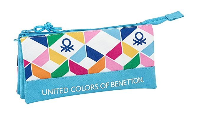Benetton SAFTA Estuche Escolar Geometric Oficial 220x30x100mm