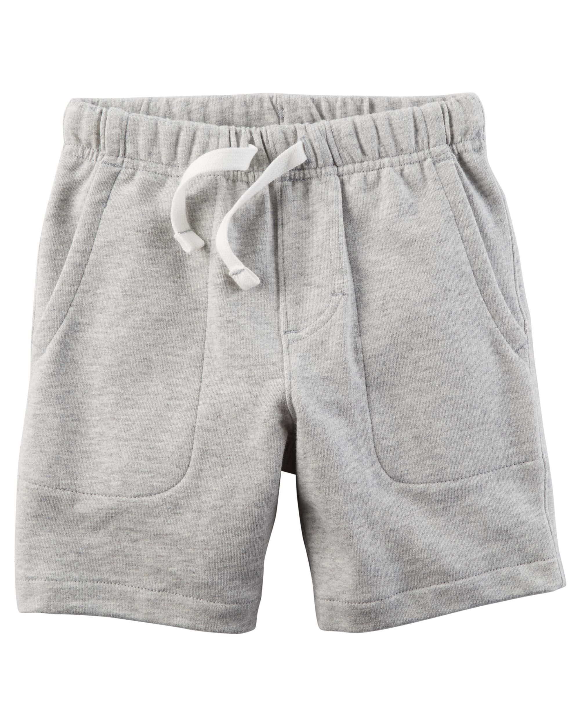 Carters Little Boys Pull-on French Terry Shorts - (9M, Gray)
