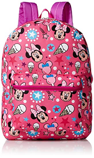 5fec4255321 Amazon.com   Disney Girls  Minnie Mouse All Over Print Backpack ...
