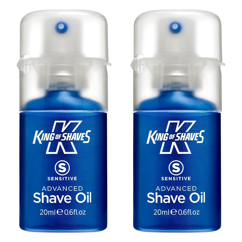 Rey de afeita afeitado sensible avanzada aceite 20 ml Paquete de dos The King of Shaves Company 10113072A