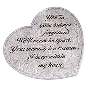 Gone But Not Forgotten Bereavement Heart Shaped 11 in. Garden Stepping Stone