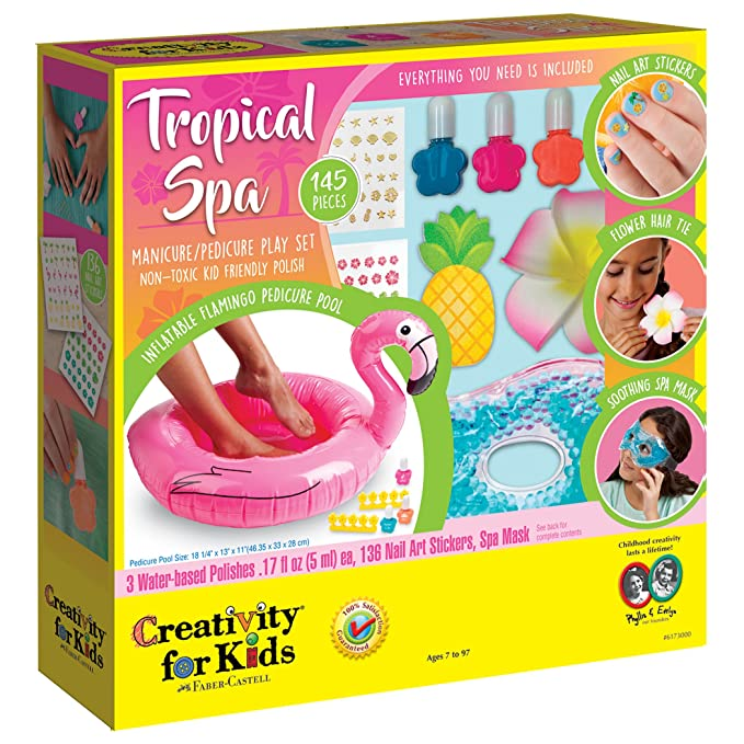 Amazon.com: Creativity for Kids Tropical Spa Day Kit, Multicolor ...