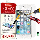 Apple iPhone 5 / 5S - Premium Tempered Glass Crystal Clear LCD Screen Protector Guard Cover Ultra Thin Lighweight & Polishing Cloth + Green 2 IN 1 Dust Stopper GSVL1 BY SHUKAN®, (TEMPERED GLASS)