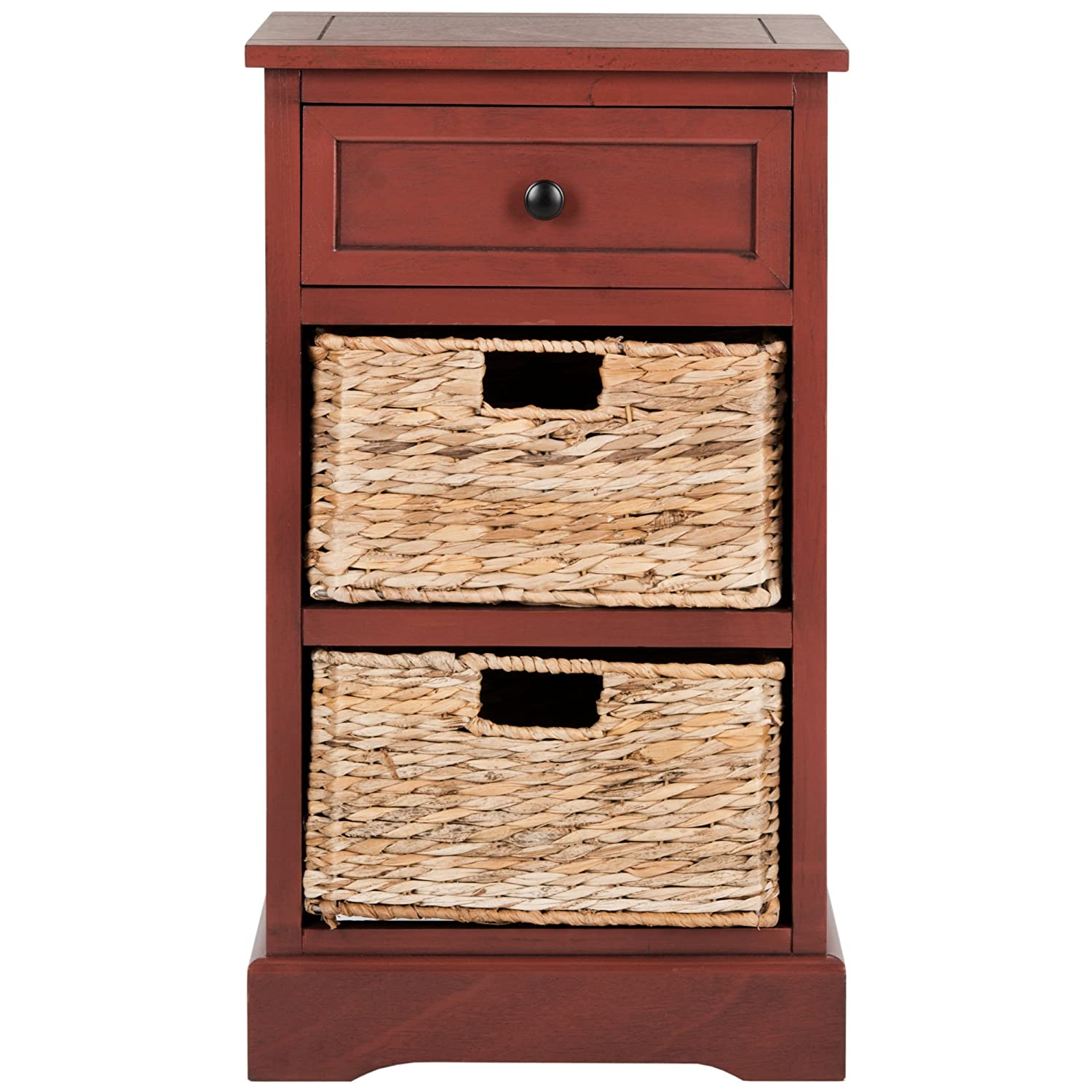 Amazon Com Safavieh Home Collection Carrie Red Side Storage Side