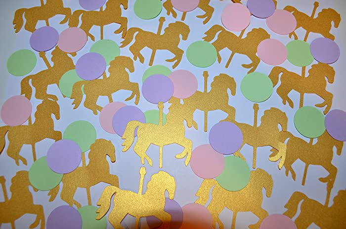 Amazon Com Carousel Horse Party Decorations Carousel Confetti