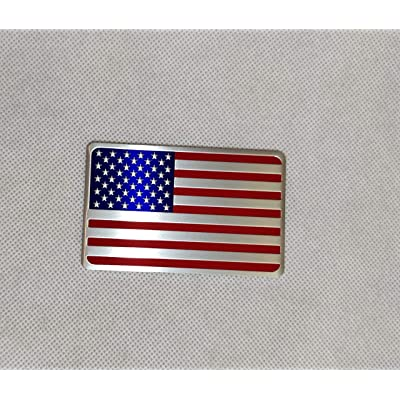 Generic Car Racing Sports US USA American Flag Oblong Emblem Badge Decal Sticker: Beauty