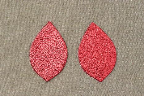 "12pk-Leather Rectangle Die Cut Showgirl Pink Metallic /""Vegas/"" DIY Earrings"