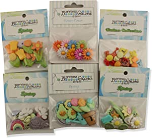 Buttons Galore Spring Button Theme Packs-Set of 6