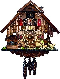 SELVA Reloj De Cuco dominan Trasero Tradicional Negro bosques Artesanal – Fabricado en Alemania – En Nogal…