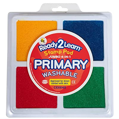Center Enterprises Inc. Ready2Learn Jumbo Washable Stamp Pad, 4-in-1: Industrial & Scientific
