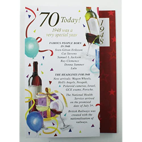 Personalised 70th Birthday Cards Amazon