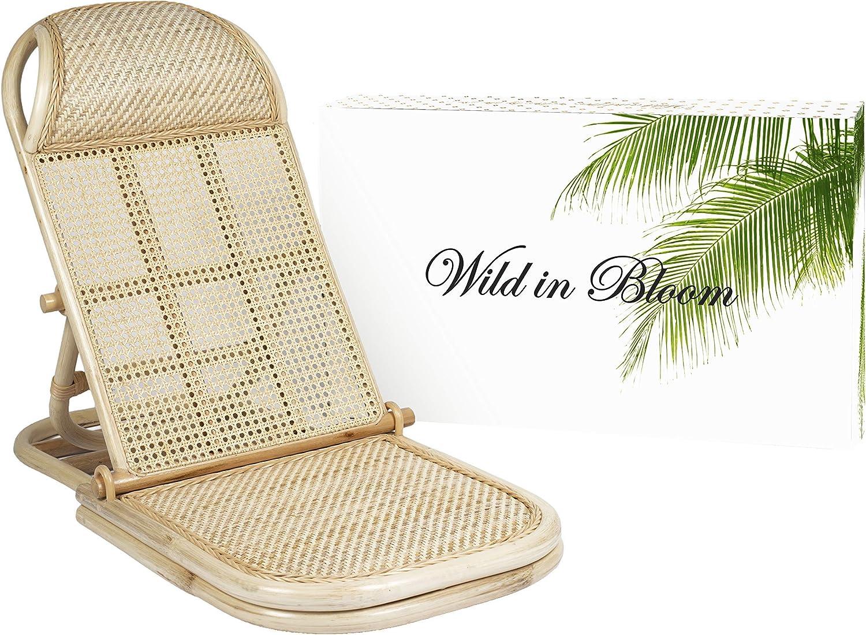 Rattan Folding, Portable Beach Chair, Wicker, Cane, Bamboo Lounger. Rattan Lawn, Floor, Pool Lounger, sunbed, Deck Chair