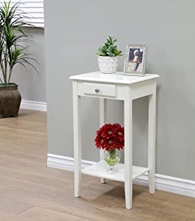 Frenchi Home Furnishing Antique Regalia Table Collection, White