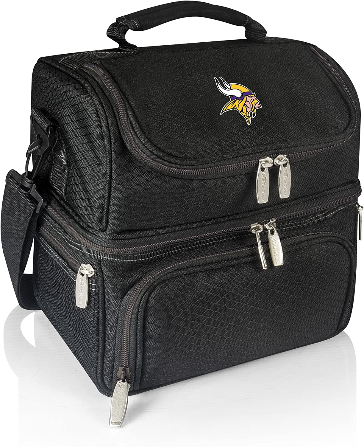 PICNIC TIME NFL Minnesota Vikings Pranzo Insulated Lunch Tote with Service for One, Black