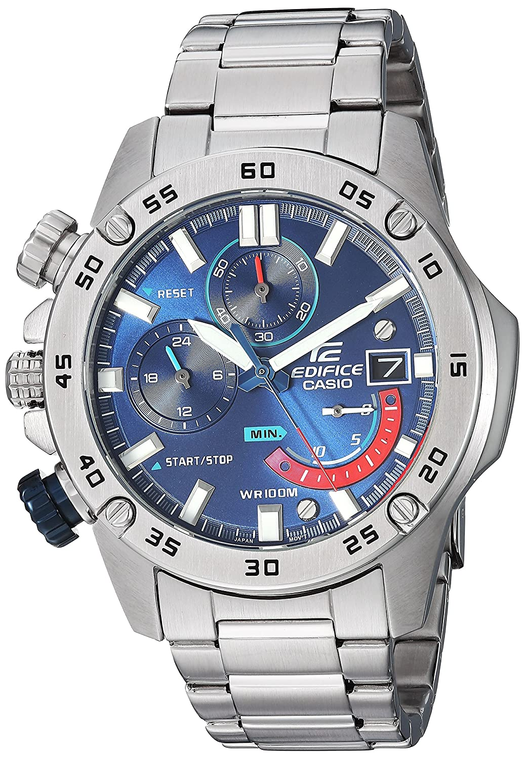Amazon.com: Casio Mens Edifice Quartz Watch with Stainless-Steel Strap, Silver, 20.5 (Model: EFR-558D-2AVCF) : Watches