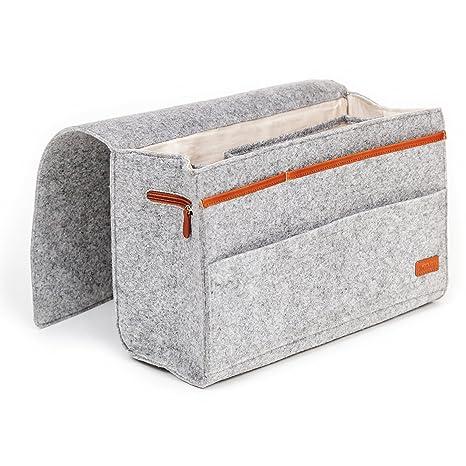 Amazon Com Kenley Bedside Caddy Bed Skirt Storage 7 Pocket