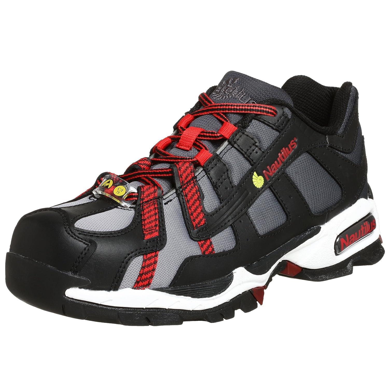 Nautilus Safety Footwear メンズ ブラック/シルバー/レッド 9.5 D(M) US 9.5 D(M) USブラック/シルバー/レッド B00142EK86