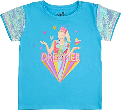 a4c1989a674ab Amazon.com: Jojo Siwa Girls' Sequin Short Sleeve T-Shirt: Clothing