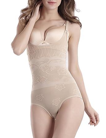 1944694556c5c Tooklanet Women s Shapewear Open Bust Underwear Firm Control Bodysuit  Slimming Body Shaper for Women Ultra-