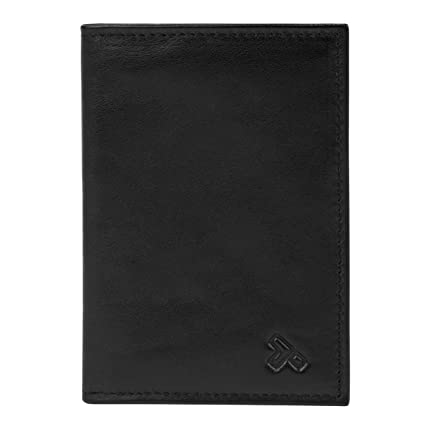 Leather passport case Off-white
