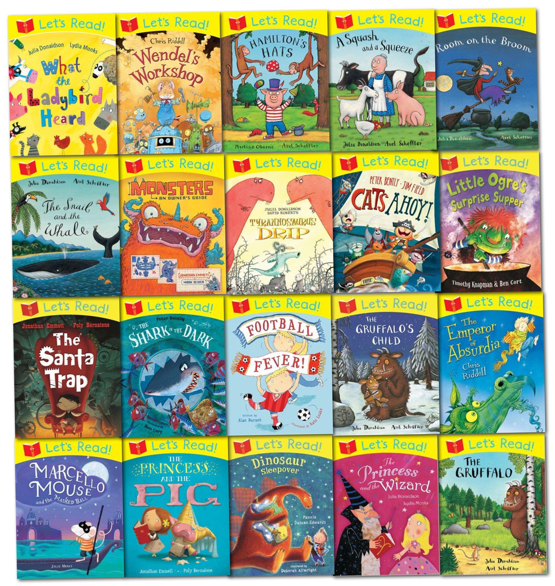 Julia Donaldson Lets Read Collection 20 Picture Books Set: Amazon ...