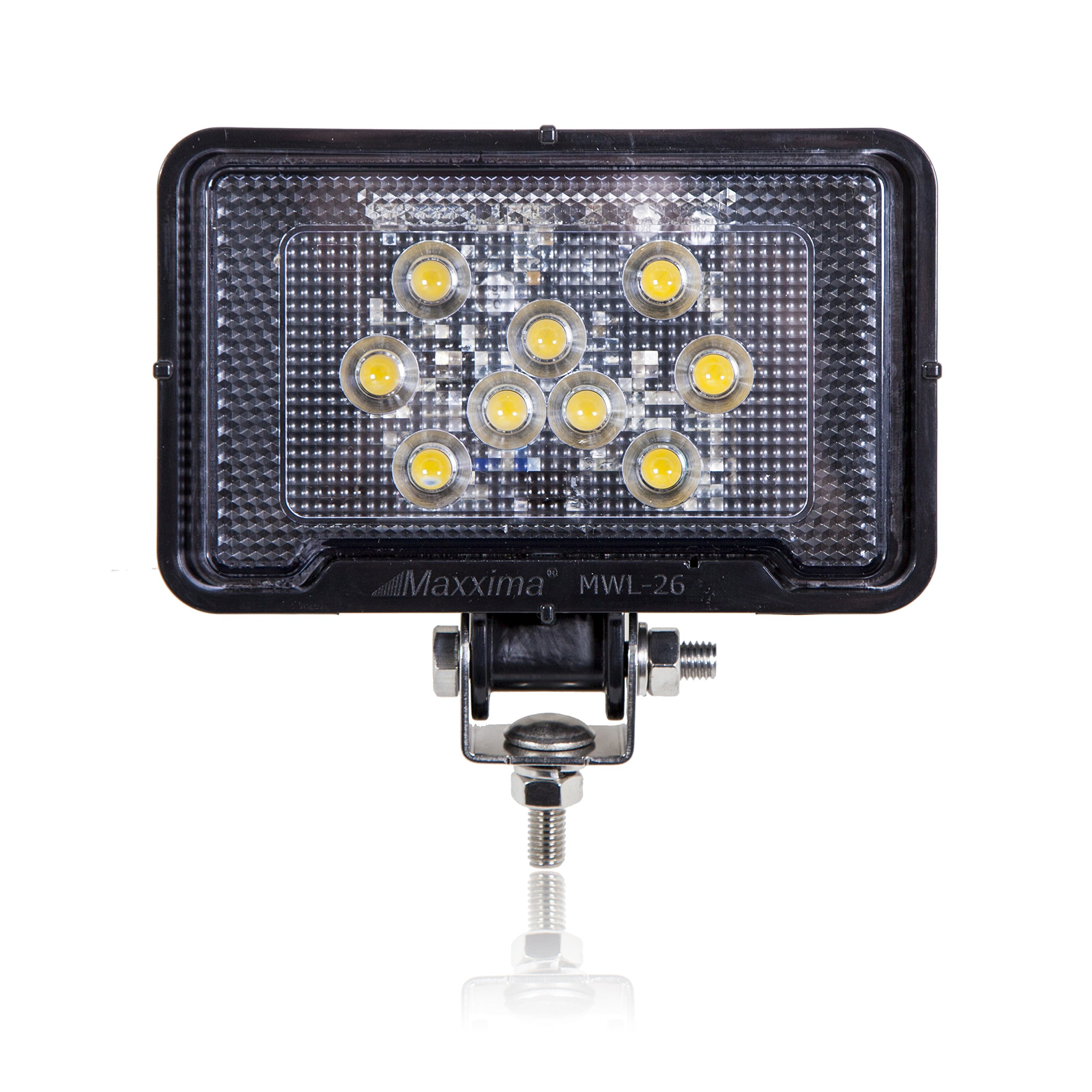 Maxxima MWL-26 9 LED Rectangular Super Light Weight Compact Work Light 500 Lumens
