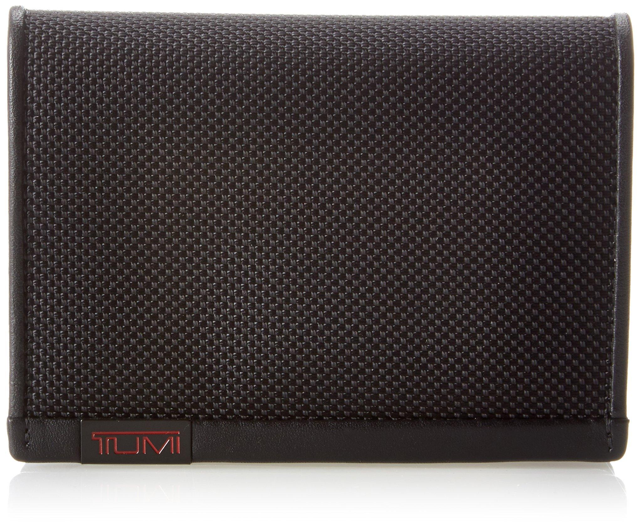Tumi Men's Alpha L-Fold ID RFID Blocking Wallet, Black, One Size
