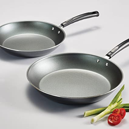 Tramontina PrimaWare 2-Piece Nonstick Saute Pan Set, Steel Gray