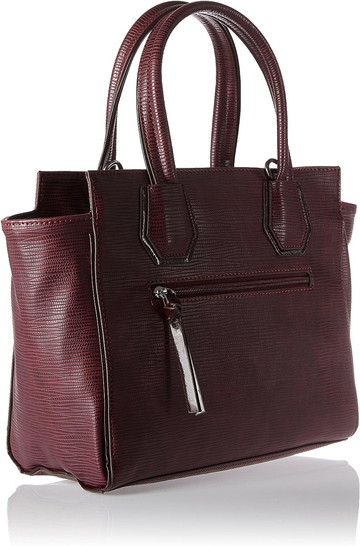 Tamaris Babette Handbag, Sac femme, Rot (Vino Comb), 10