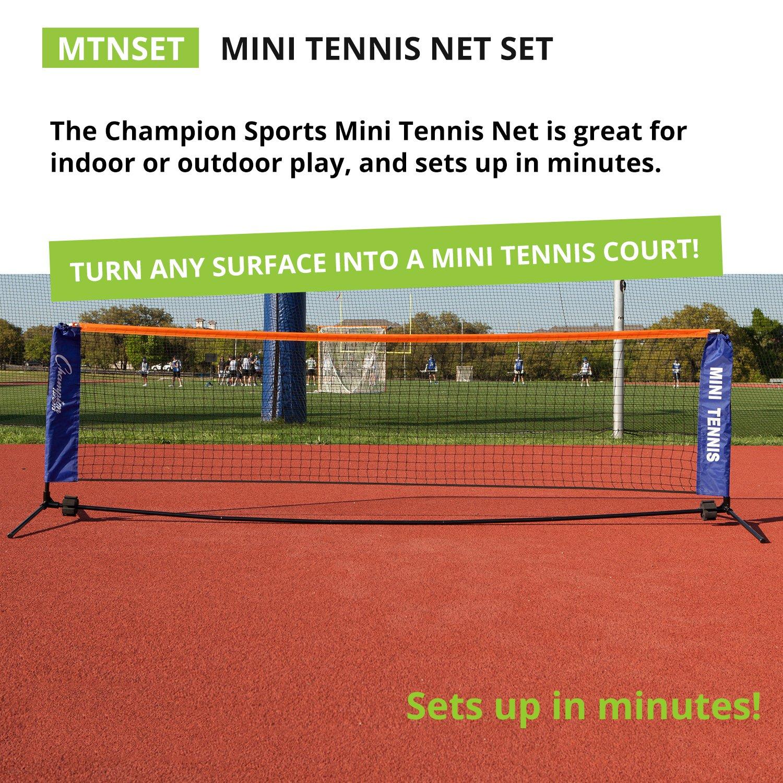 amazon com champion sports portable tennis net 10 foot kids