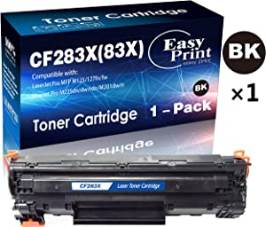 Compatible (1x Black) CF283X 83X Toner Cartridge 283X Use with HP Laserjet Pro MFP M125fn M125fw M127fn M127fw M201n M201dw M225dn M225dw Printer, by EasyPrint
