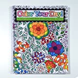 Color Your Day!   An Adult Coloring Book With Inspirational Quotes   Spiral  Bound