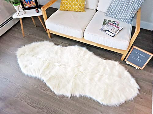 Double Pelt Faux Sheepskin Fur Rug