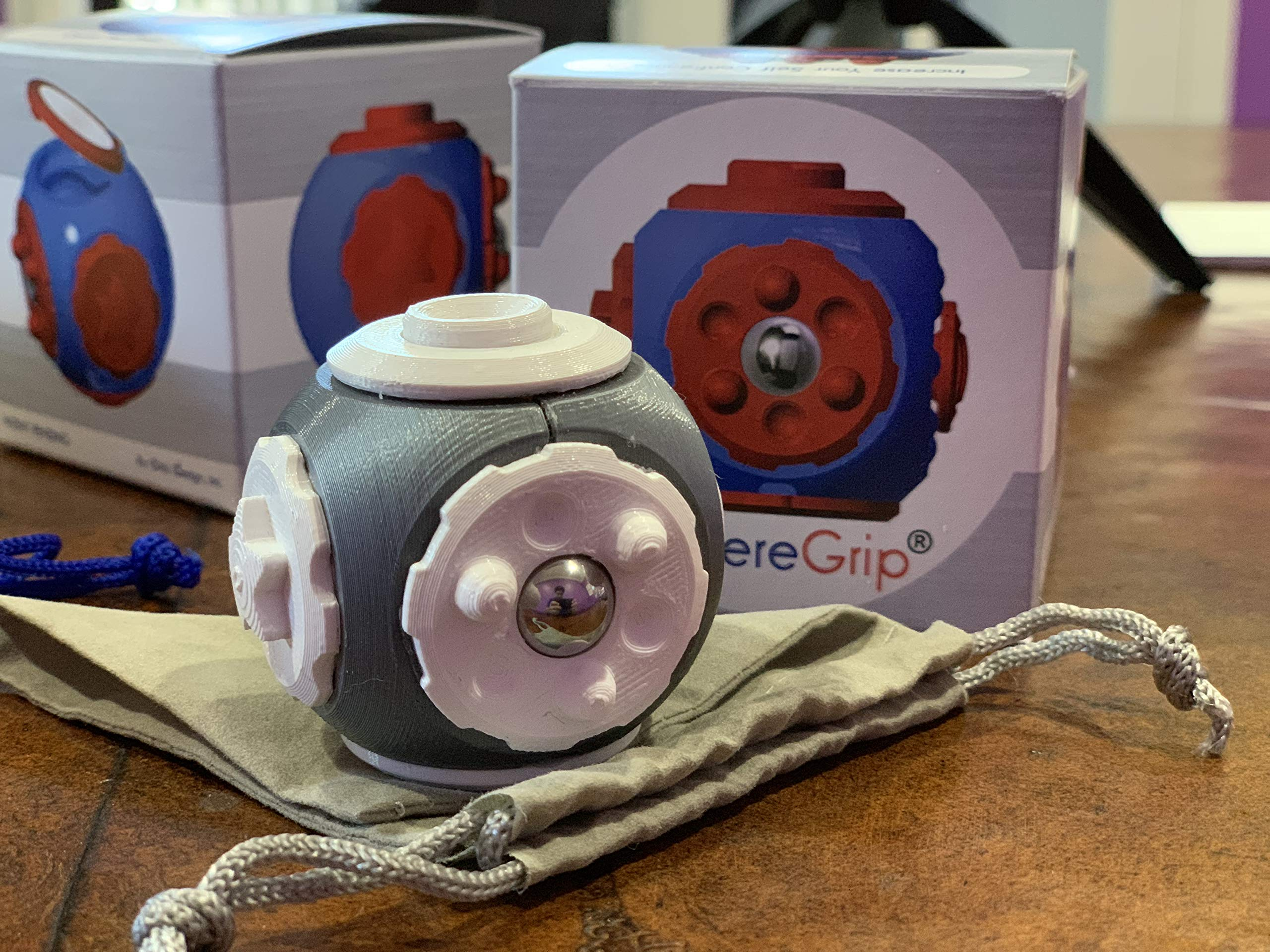 SphereGrip, Fidget toy, Reduce Anxiety and Stress, Increase Self-confidence, Fidget, Storage, Mirror (All 6 combinations) by Arbi Design (Image #9)